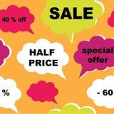 Sale seamless pattern Royalty Free Stock Photo