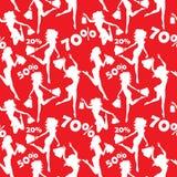 Sale seamless pattern Stock Image