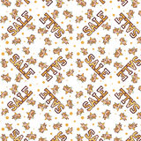 Sale seamless pattern. With stars Stock Images