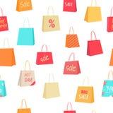 Sale Seamless Pattern Vector Illustration Stock Image