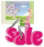 Sale - seasons, spring. vector Stock Photos