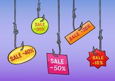 Sale. Selling very well attract a lot of buyers Royalty Free Stock Image