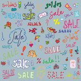 Sale set background Stock Photo