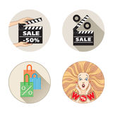 Sale set Stock Images