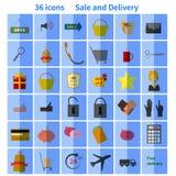 Sale set Icon flat  design Royalty Free Stock Photo