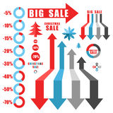 Sale. Set of infographics elements. Christmas Stock Photography