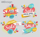Sale - set of labels. Royalty Free Stock Photography