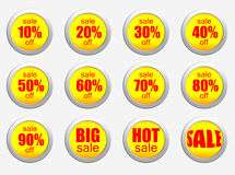 Sale set of percent Royalty Free Stock Photography