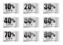 Sale set of percent Stock Photography