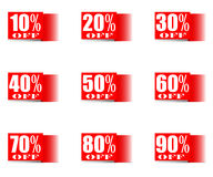 Sale set of percent- EPS 10. Royalty Free Stock Photography