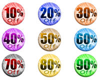 Sale set of percent Royalty Free Stock Images