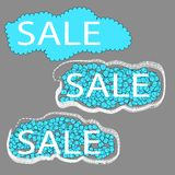 Sale. set of three cloud tags Stock Photos