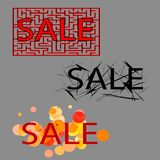 Sale. set of three tag Royalty Free Stock Image