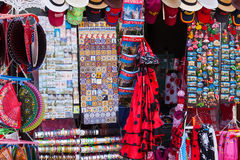 Sale of Seville tourist gifts Stock Images