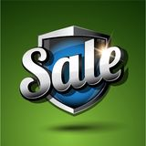 Sale on shield vector illustration