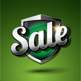 Sale shield green Stock Images