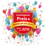 Sale Shield Preis Balloons Percents Royalty Free Stock Photography