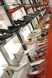 SALE in the Shoe shop. Show-window in the Shoe shop Royalty Free Stock Images