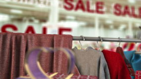 Sale in shop concept animation stock footage