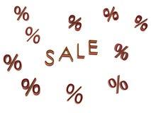 Sale shoppar pengar Royaltyfri Fotografi