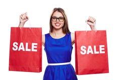 Sale shopper Stock Image