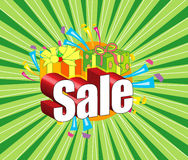 Sale shopping. Sale logo created in illustrator. can use for advertisements Stock Image