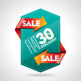 Sale shopping background and label Stock Images