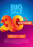 Sale shopping background and label Royalty Free Stock Image