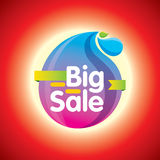 Sale shopping background and label for business promotion Stock Photos