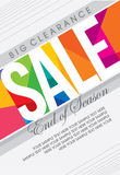 Sale shopping background and label for business promotion Stock Photography