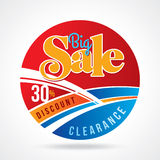 Sale shopping background and label for business promotion Royalty Free Stock Photos