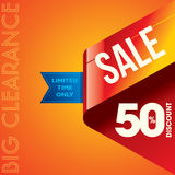 Sale shopping background and label for business promotion Royalty Free Stock Images