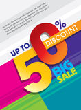 Sale shopping background and label for business promotion Royalty Free Stock Photo