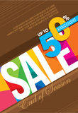 Sale shopping background and label for business promotion Royalty Free Stock Image