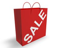 Sale Shopping Bag. Concept  in 3D Royalty Free Stock Photos