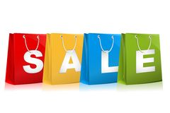Sale on Shopping bag Royalty Free Stock Photo