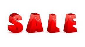 Sale Shopping Bag Stock Images