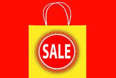 SALE shopping bag Stock Image