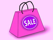 SALE shopping bag Royalty Free Stock Images