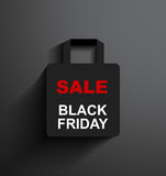 SALE shopping bag Black Friday Stock Images