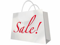 Sale Shopping Bag Customer Store Event Stock Image