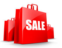 Sale shopping bags Royalty Free Stock Photography
