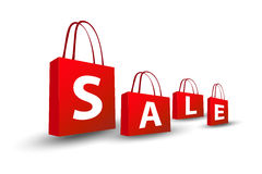 Sale shopping bags Royalty Free Stock Images