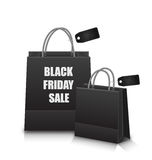 Sale Shopping Bags with Discount for Black Friday Stock Photos