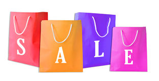 Sale shopping bags isolated Stock Photo