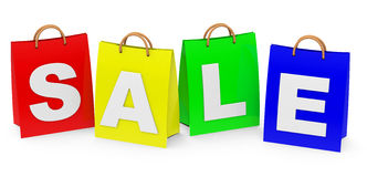 Sale shopping bags Royalty Free Stock Image