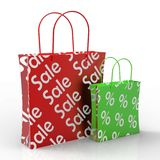 Sale Shopping Bags Showing Reductions. Or Discounts Royalty Free Stock Photos