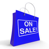 On Sale Shopping Bags Shows Bargains Savings Royalty Free Stock Photo