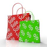 Sale Shopping Bags Shows Reductions Royalty Free Stock Image