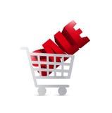 Sale shopping cart illustration design Royalty Free Stock Image